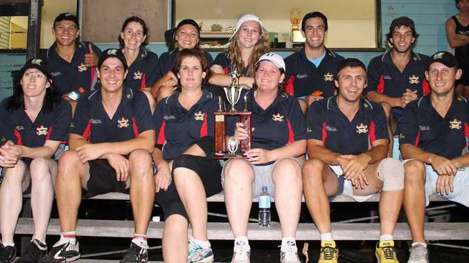 DONE IT AGAIN: Airlie Mixed have once again proven they are the team to beat in the Whitsundays after they took out Whitsunday Touch Association's A Grade grand final on Monday night. Back: Shaun Taylor, co-captain Nicky Ryan, Shanay Taylor, Hayley Lesage, Anton Zafir and Zak Powell. Front: Leigh Munro, Ben Whybird, Kym Hiscox, co-captain Sue Filby, Andrew Scotford and Sam Wilson. Photo Zac Bailey / Whitsunday Times