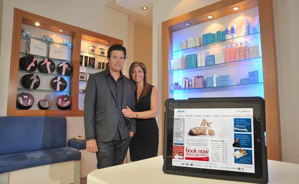 Shine Beauty owners Joel and Tania Turner.