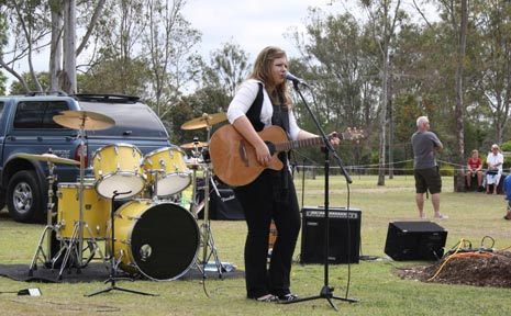 IN TUNE: Rheanna Leschke will open for Marcia Hines in January after winning the Lockyer Arts Festival Battle of the Bands on the weekend.