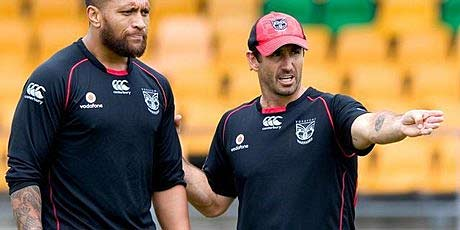 Andrew Johns (right).