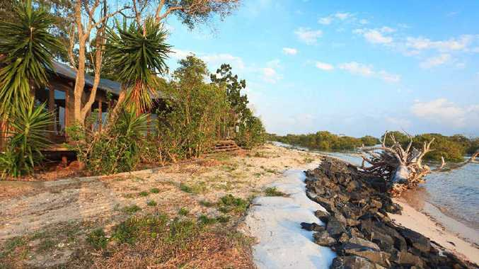 The Island at Toogoom will go under the hammer today, complete with private beaches.