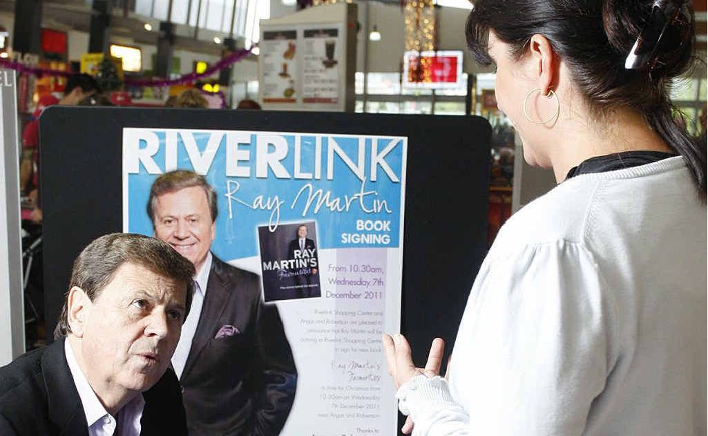 Ray Martin signing copies of his new-release book, Favourites, at the Riverlink Shopping Centre.