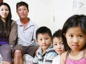 Flood family living in one room