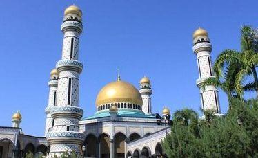 The Jame'Asr Hassanil Bolkiah Mosque in Brunei.
