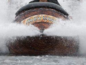 Aussie World log ride traps maintenance man