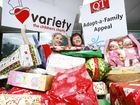 Variety Queensland programs co-ordinator Samantha Shumack (left) and Bernadette Mohr of The Queensland Times take delivery of the Variety Queensland toys for the Adopt-a-Family Appeal.