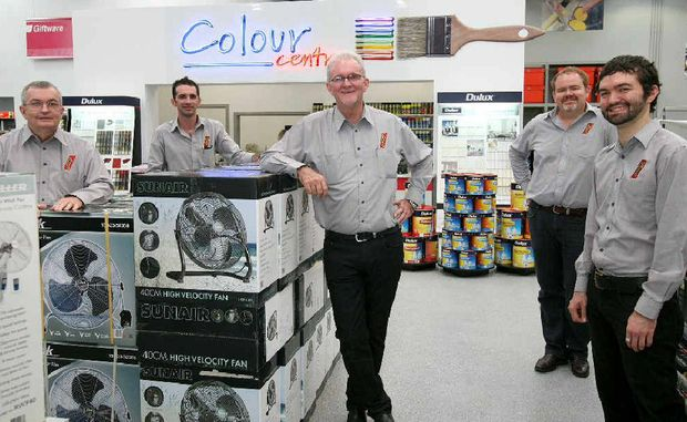 The Porter family at the new Porters store in the Northern Beaches – Gavan Porter Snr, Scott Porter, Paul Porter, Greg Porter and Gavan Porter Jnr.