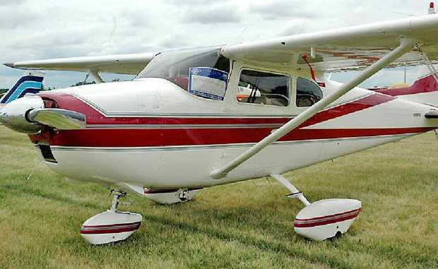 A single-engine Cessna like the one found crashed near Injune yesterday.