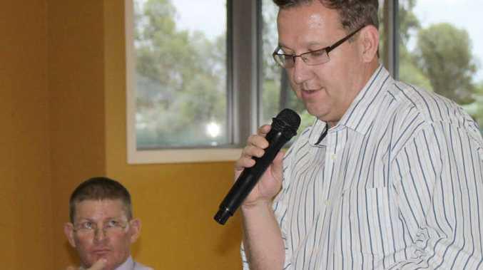 Kevin Pickersgill and Shadow MP David Gibson.