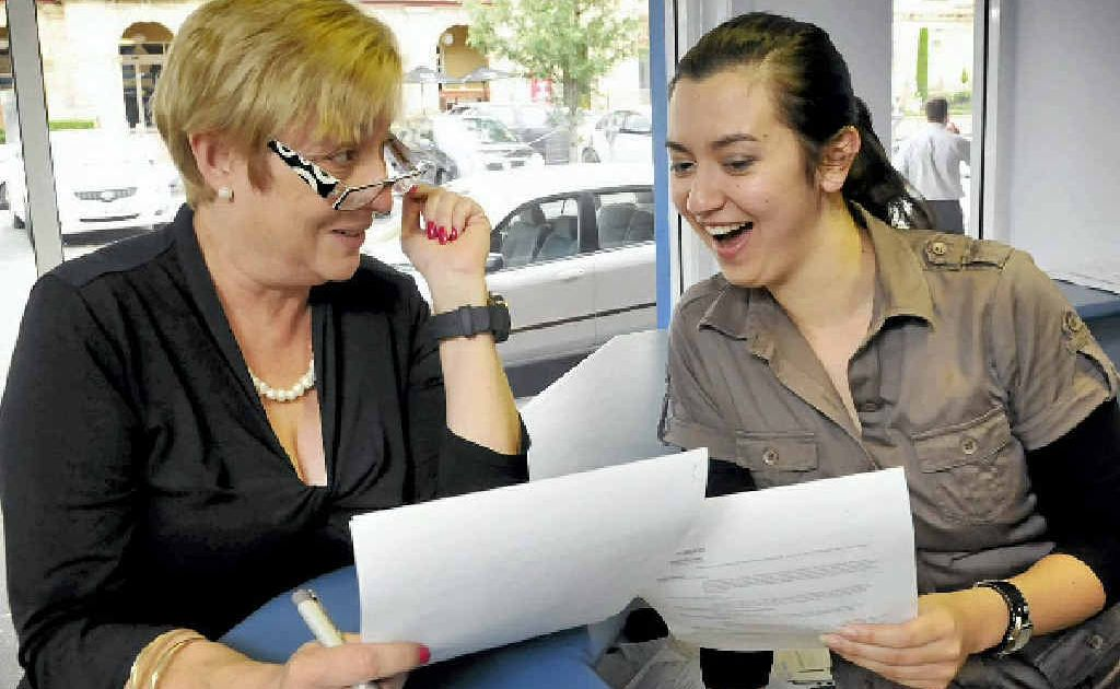 Joy Mingay (left) and Rosie Kent from Classic Recruitment have a chuckle at the lack of professionalism on the resumes of some recent school leavers.