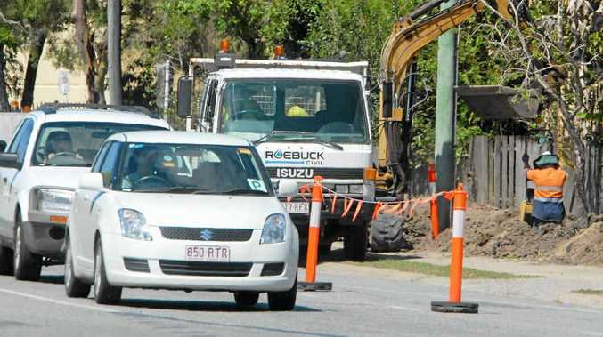 Roadworks under way in Paradise St. Mackay Regional Council is pushing to seal most repaired roads before Christmas.