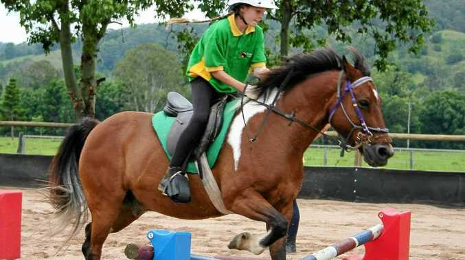 Young Amber Straton of Mountain Top shows her skills aboard Jewel.