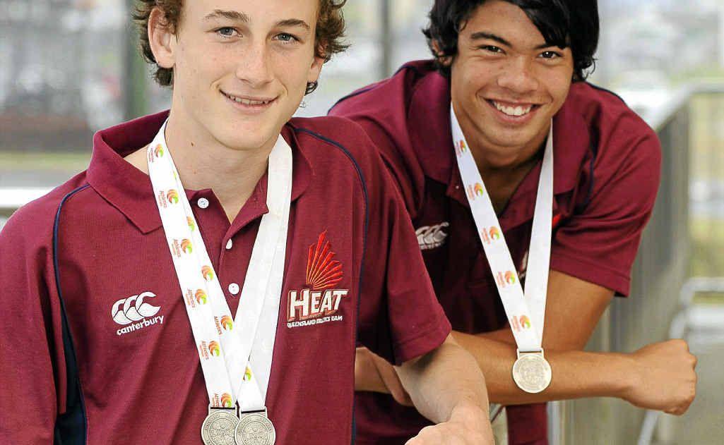 Australian All Schools medallists, Christian Devon and Brenton Thiele.