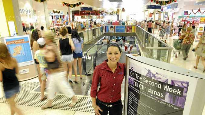 Hinkler Central's Elysia Billingham among the Christmas shoppers in the centre.