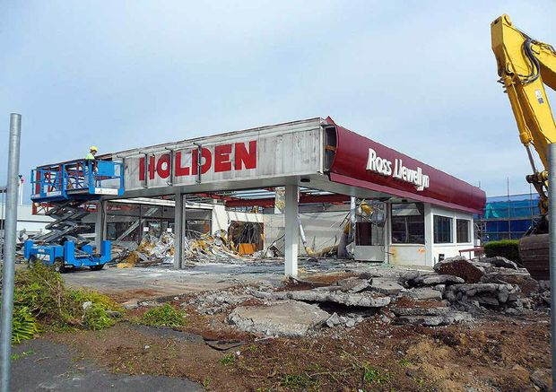Llewellyn Motor Group's Holden showroom is being demolished to make way for a new building.