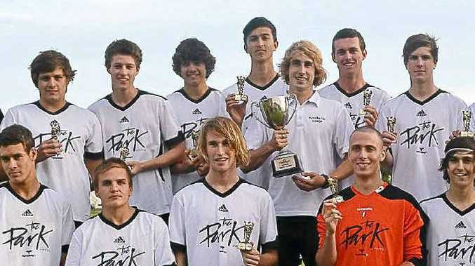 The Byron Bay team after winning the Tursa summer youth league for the second year in a row.