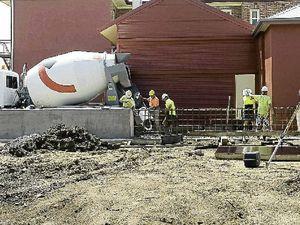 Concrete promise on levee