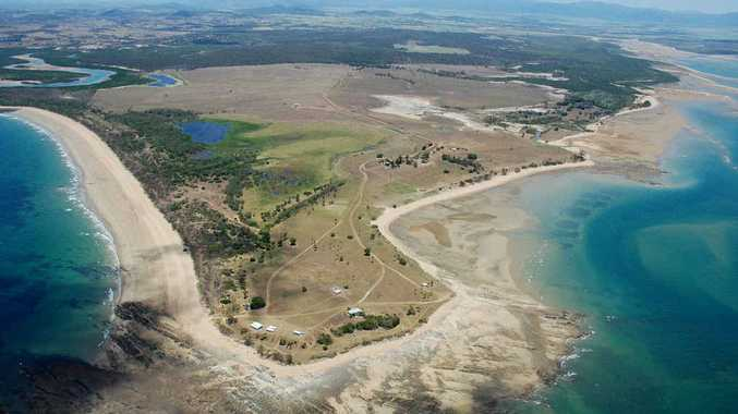 An aerial view of Dudgeon Point, just south of Mackay.