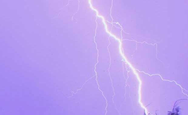 WILD WEATHER: Thunder and lightening lashed areas of the Whitsundays on several occaions over the past week Photo Kasey Vella