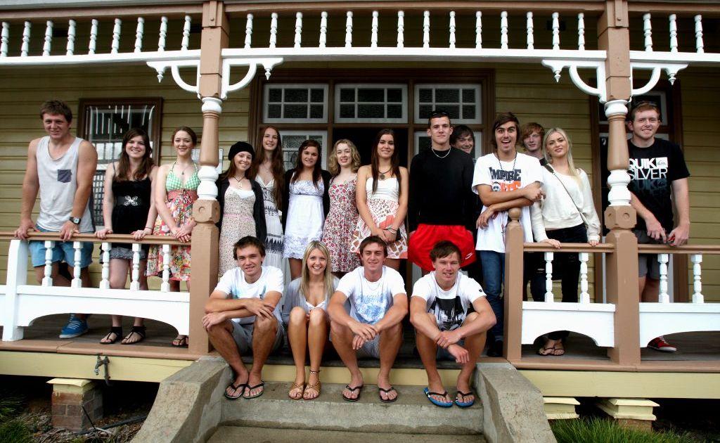 Year 12 students from St Patricks College, Murwillumbah.