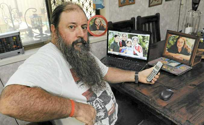 Bundaberg's Mick Peet is waiting for news about the search for Malcolm Naden, who is wanted in relation to the disappearance of his daughter Lateesha Nolan.