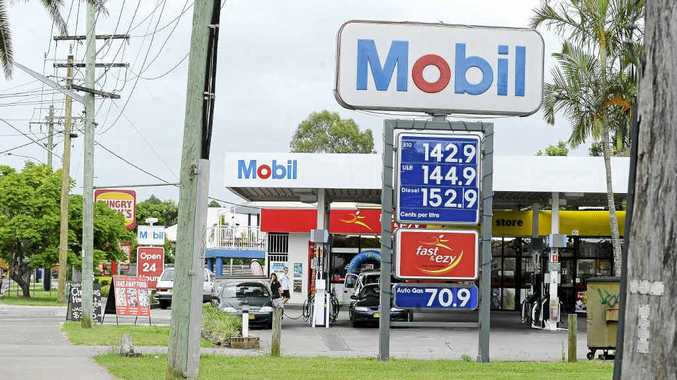 The Mobil service station on Ballina Rd, Lismore, where an attendant was robbed at gunpoint yesterday morning.