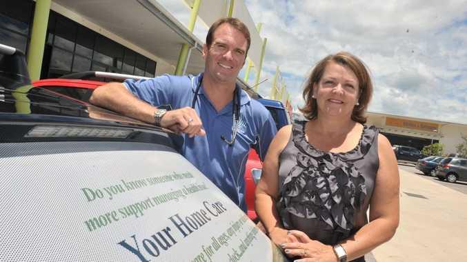 Registered nurse David Neal and managing director of Your Home Care, Linda Delamotte.