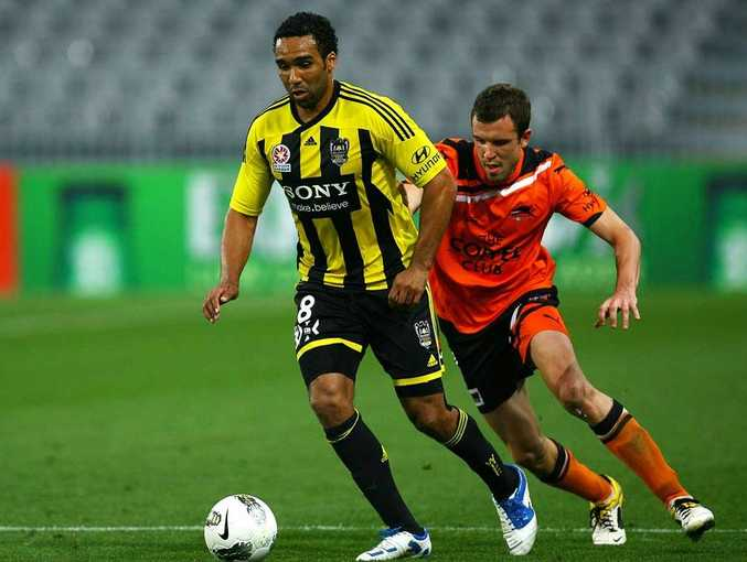 A Paul Ifill (left) header gave the Phoenix all three points against Sydney FC.