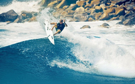 Jack Freestone performs one of his ace-on-the-wave air reverse manoeuvres. The young hot-shot gets the chance to defend his world junior championships crown at Burleigh Heads in January.