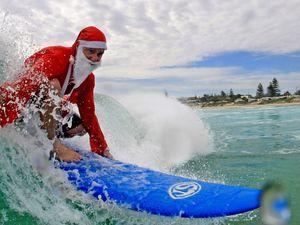 Santa hits Kingscliff waves