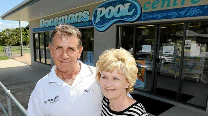 Doneman's Pool Centre owners Kevin and Robyn Doneman are giving away a spa in the NewsMail Funny Money auction tomorrow.
