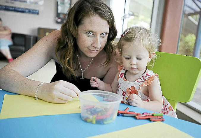 Belinda Lang of East Ballina would like more community awareness of breastfeeding women's rights after being told she couldn't feed her daughter Elorah, 18 months, at the Wet'n'Wild theme park on the Gold Coast.