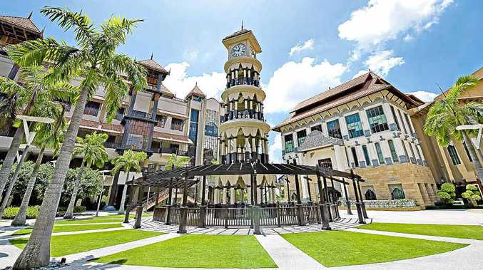 LINK: The Pullman Putrajaya Lakeside clock tower.