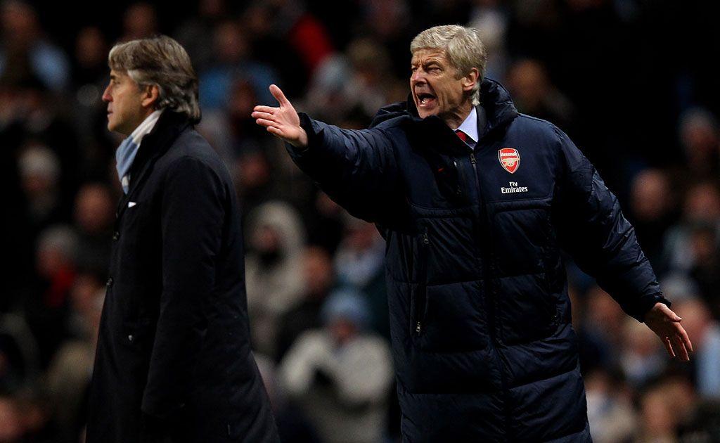 Arsene Wenger (right).