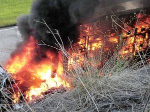 Postal van fire 'unusual'