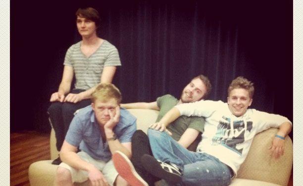 The Funny Boys L-R Matt Collins, Josh Doyle, Steve Pirie and Dan Stewart .