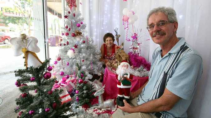 Lucy and Jon Dillon enjoyed creating their award-winning Christmas decoration display at their Victoria St store, Lucy Dillon for Brides/Crafty Cat.