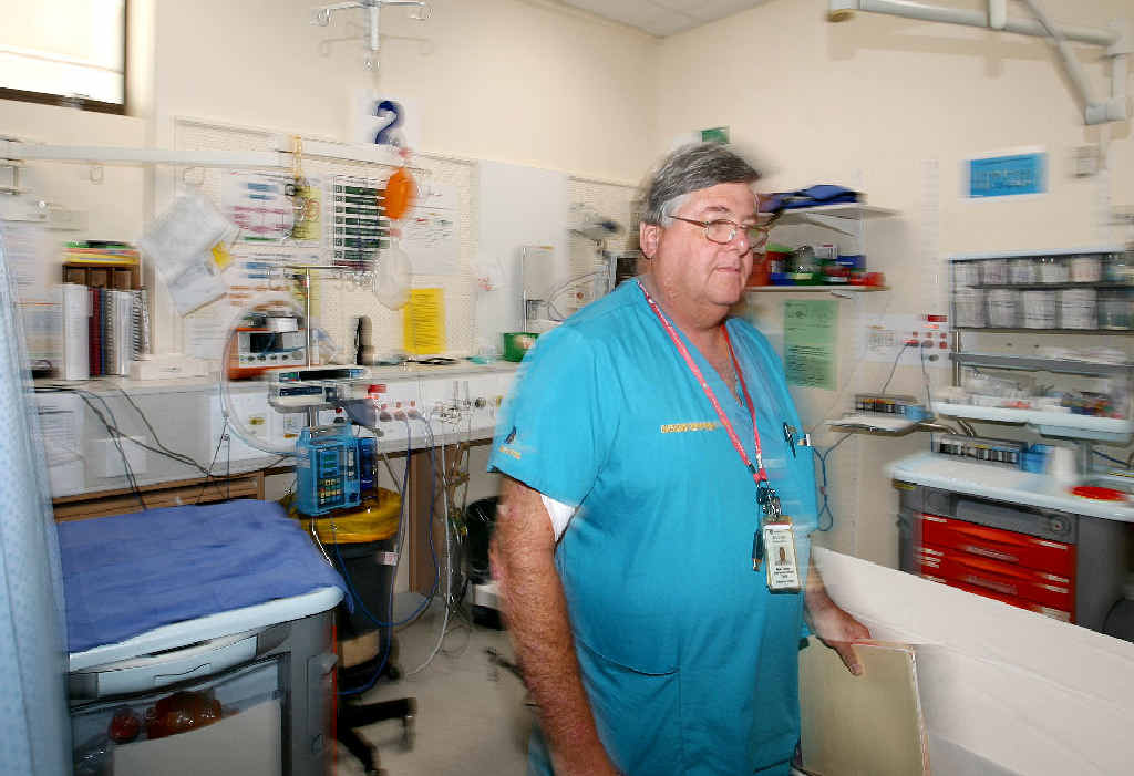Dr Neale Thornton will be kept busy working in the Mackay Base Hospital's emergency department over the Christmas-New Year holidays.