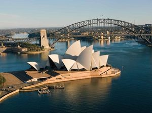Visitor tries to climb Opera House's sails