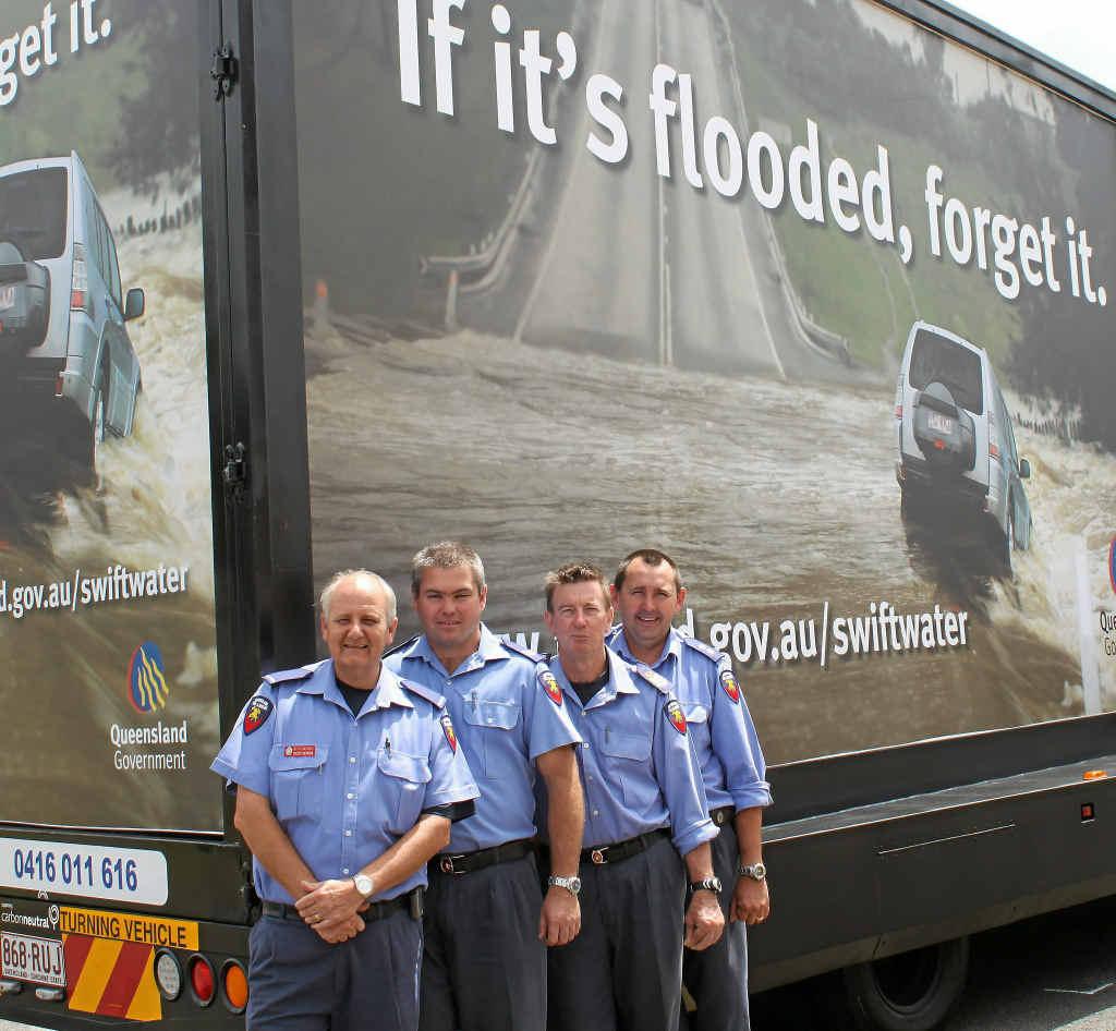 Warwick firefighters, Brett Bender, Ian Barnden, Michael Coombes and Greg Stewart.