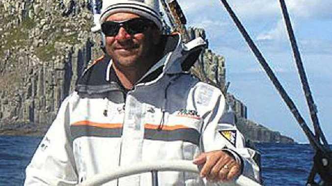 Leo Rodriguez rounds Tasman Island during the 2010 Sydney to Hobart yacht race.