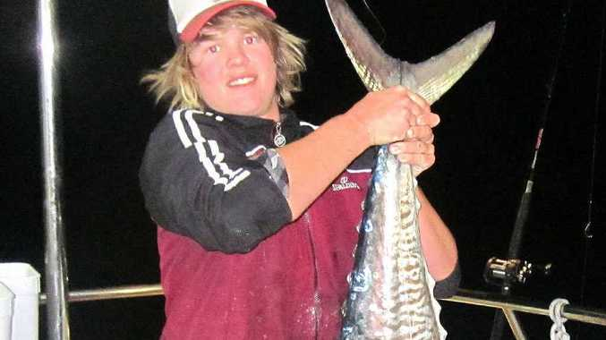 Dylan McLaughlin with top quality mackerel caught on the Elizabeth E II.