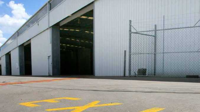 Hyne Timber's Power St warehouse lies empty after the company closed its Rockhampton operation.