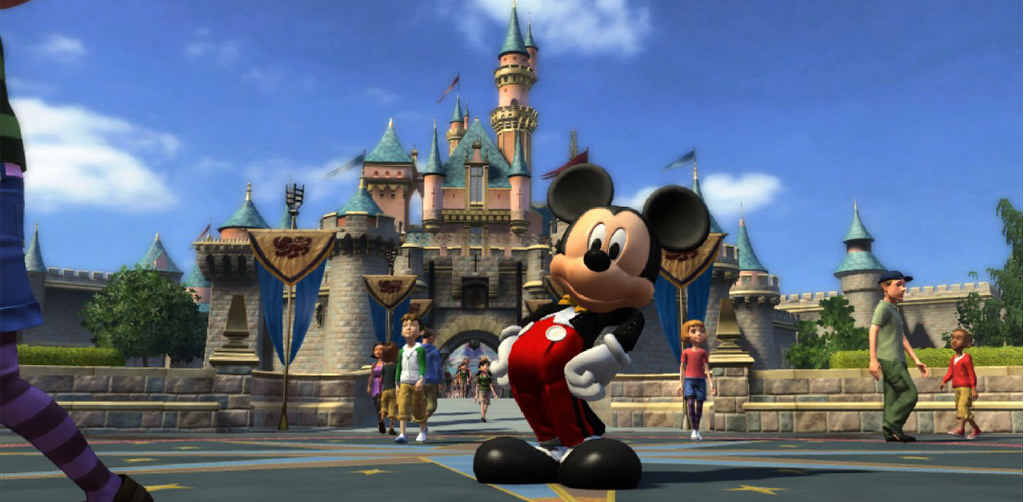In this video game image released by Microsoft Studios, a scene is shown from Disneyland Adventures.