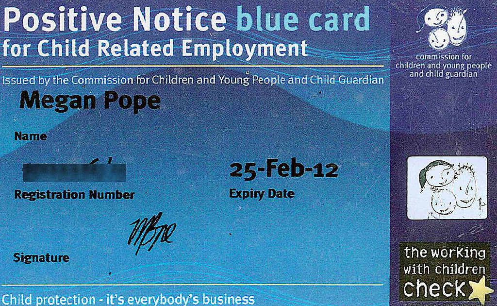 Maryborough MP Chris Foley is calling for people to have their photographs on Blue Cards to provide a safeguard against identity fraud. This digitally-altered image shows what a card bearing a photo might look like.