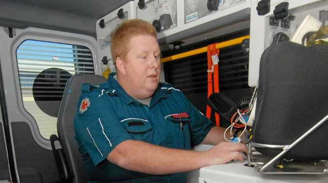 DEDICATION: Queensland Ambulance Service paramedic Jeremy Wickham will be on the job this Christmas