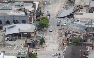 Damaged buildings in central Christchurch. File photo / Mark Mitchell