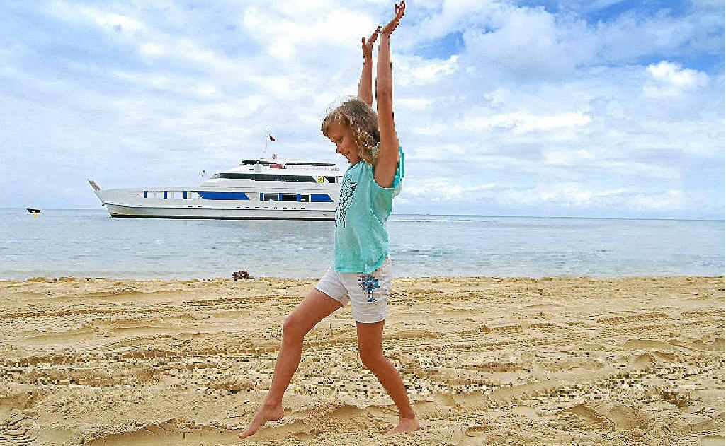 CASTAWAYS: MiCat ferry delivers guests in comfort to and from Moreton Island.