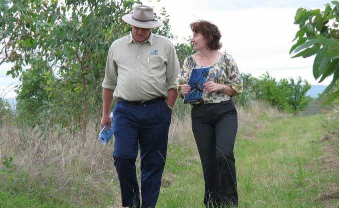 Acting Environment Minister, Ipswich MP Rachel Nolan, launches Carbon Farming in Rural Queensland with SEQ Catchments CEO Simon Warner at the Bundamba carbon planting site.