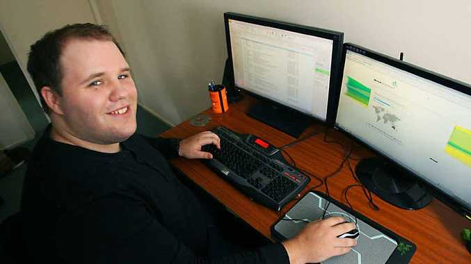 Kurtis Andrews is helping out the little guy with his new business WhoNet IT Services, aimed at servicing smaller businesses and homes in Rockhampton.